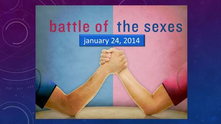 January 24, 2014. BATTLES OVER SEX… 1Co 7:2 Because sexual immorality is so rampant, every man should have his own wife, and every woman should have her.
