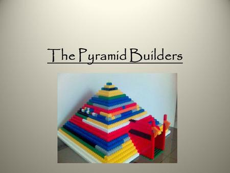 The Pyramid Builders. The Old Kingdom Historians believe that Upper and Lower Egypt united around the year 2925 B.C. Prior to that, separate rulers controlled.