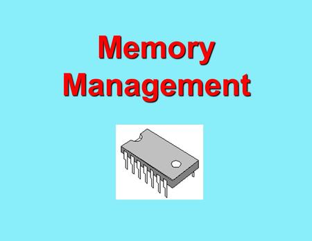 Memory Management. Why memory management? n Processes need to be loaded in memory to execute n Multiprogramming n The task of subdividing the user area.