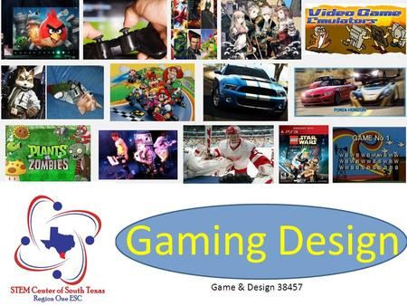 Gaming Design Game & Design 38457. Agenda 8:30-9:00 Welcome & Introduction 9:00-10:00 SCRATCH Basics 10:00-10:10 Break 10:10-11:10 Mini-Lessons 11:10-11:30.