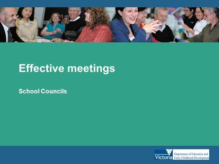 Effective meetings School Councils. Planning for effective meetings Planning –What do you want from the meeting? –What do you need to achieve? Notifying.