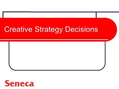 Creative Strategy Decisions
