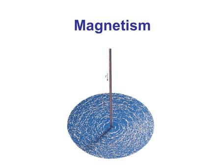 Magnetism Chapter 27 opener. Magnets produce magnetic fields, but so do electric currents. An electric current flowing in this straight wire produces a.