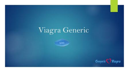 Viagra Generic. Introduction  Male impotency found its cure in a drug called Sildenafil Citrate that was accidentally invented.  Later, they used it.