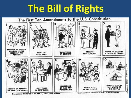 The Bill of Rights. AGENDA February 18/19, 2014 Today's topics  Landmark Supreme Court Cases (1 st period only)  Criminal Law vs. Civil Law (2 nd +