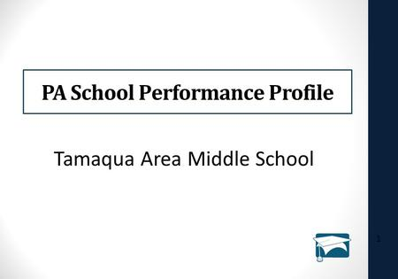 PA School Performance Profile 1 Tamaqua Area Middle School.