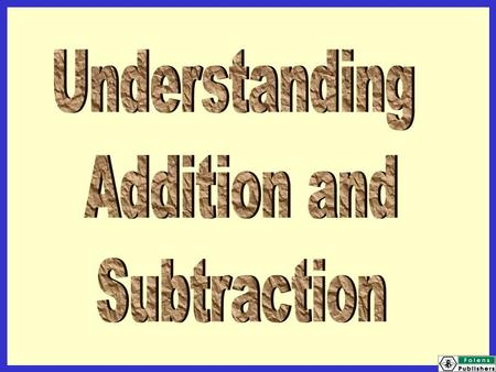 Today we will be learning: that you can add in any order that subtraction is the inverse of addition.