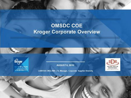OMSDC COE Kroger Corporate Overview