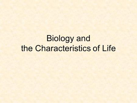 Biology and the Characteristics of Life. Aim: How do living things carry out metabolic activities? Do now: Answer the following question: How do you know.