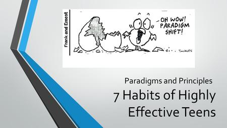 7 Habits of Highly Effective Teens Paradigms and Principles.