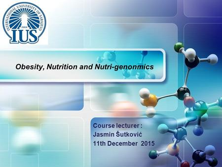 Obesity, Nutrition and Nutri-genonmics