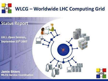 Jamie Shiers WLCG Service Coordination WLCG – Worldwide LHC Computing Grid Status Report LHCC Open Session, September 25 th 2007.