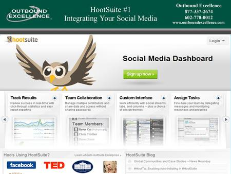 HootSuite #1 Integrating Your Social Media. HootSuite: Integrating & Automating Your Social Media #1 Integrated Dashboard View LI + TW + FB WPB #2 Automated.