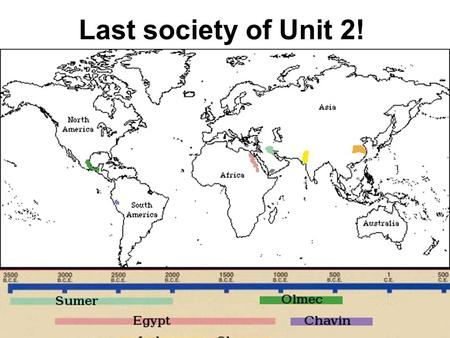 Last society of Unit 2!. How did people get to the Americas before civilizations even emerged? Ice Age: Nomads & animals migrated across the land bridge.