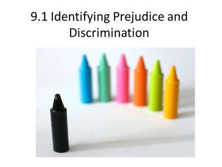 9.1 Identifying Prejudice and Discrimination. What's in a Word or Symbol Racism Negative behaviour based on an incorrect assumption that one race is inherently.