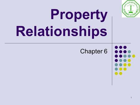 1 Property Relationships Chapter 6. 2 Apply the differential form of the first law for a closed stationary system for an internally reversible process.