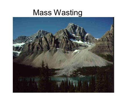Mass Wasting. Introduction While landslides are a normal part of erosion and surface processes, they can be very destructive to life and property Mass.