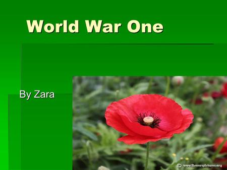 World War One By Zara. Anzac's Leaving NZ When the Anzac's were leaving NZ they thought they were off on an adventure. There were big parades with people.