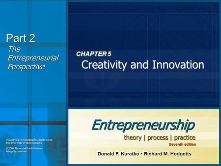 CHAPTER 5 Creativity and Innovation