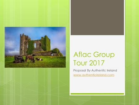 Aflac Group Tour 2017 Proposal By Authentic Ireland www.authenticireland.com.