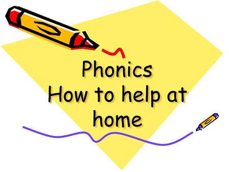 Phonics How to help at home What is Phonics? Phonics is the link between letters and the sounds they make. The full range of letter/ sound correspondences.