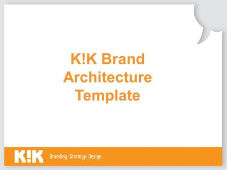 1 K!K Brand Architecture Template. 2 Introduction Every great building is admired for its amazing architecture, why should your brand be any different?