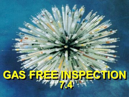 GAS FREE INSPECTION 7.4. ENABLING OBJECTIVES DESCRIBE the pre-inspection procedures and safety precautions when conducting GFE operations DESCRIBE the.