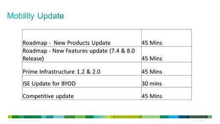 Mobility Update Roadmap - New Products Update 45 Mins