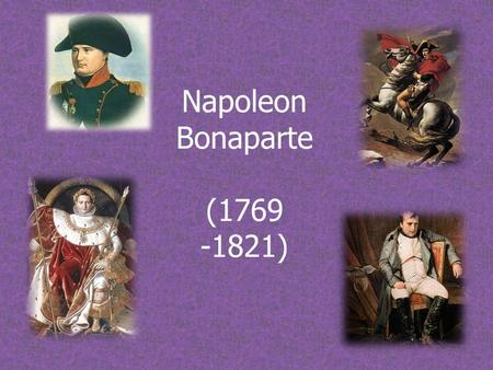 Napoleon Bonaparte (1769 -1821). VIdeo  -9420291.