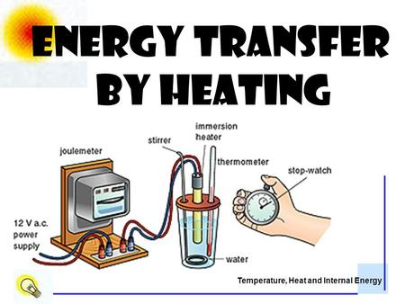 Temperature, Heat and Internal Energy Energy transfer by heating.