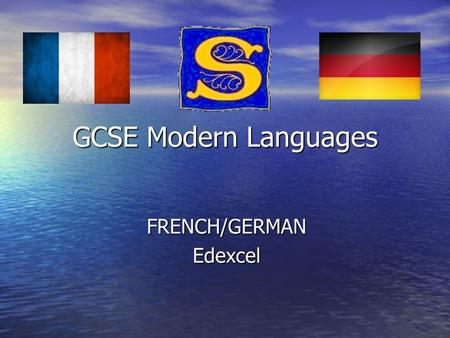 GCSE Modern Languages FRENCH/GERMANEdexcel. Examination format Listening Listening 20% (25/40 min exam) Reading Reading 20% (35/50 min exam) Writing Writing.