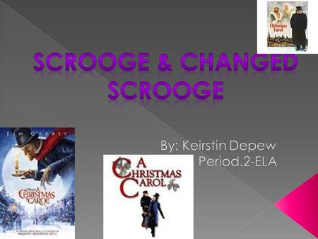 Scrooge & changed Scrooge are very alike. Scrooge & changed Scrooge are the same people only different personalities. They both have feelings for Christmas,