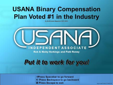 USANA Binary Compensation Plan Voted #1 in the Industry