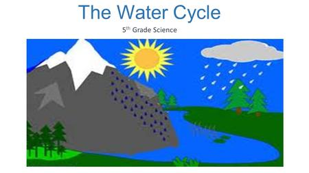 The Water Cycle 5 th Grade Science. The Water Cycle.