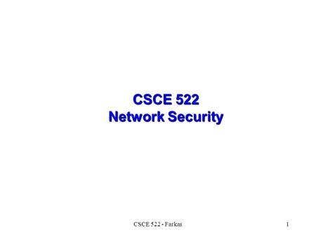 cosc 621 3 network security This course introduces students to network security  prerequisites: cosc-052   classes are held every tuesday and thursday from 2pm until 3:15pm in.