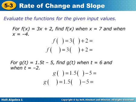 4-3 rate of change and slope - ppt video online download