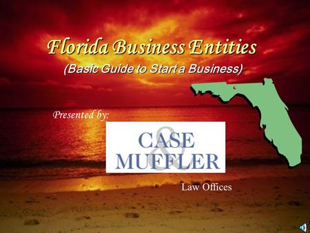 Florida Business Entities (Basic Guide to Start a Business) Presented by: Law Offices.