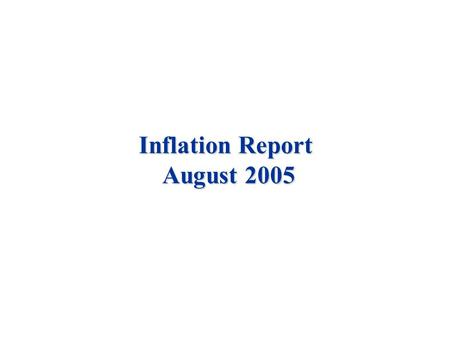 Inflation Report August 2005. Costs and prices Chart 4.1 Inflation expectations (a) (a) Defined as the rate of RPI inflation which would leave investors.