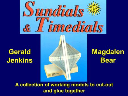 A collection of working models to cut-out and glue together Gerald Jenkins Magdalen Bear.