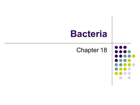 Bacteria Chapter 18. Identifying Prokaryotes Factors needed to identify a prokaryote: 1) Shape a) Bacilli: rod-shaped b) Cocci: spherical (bead-like)