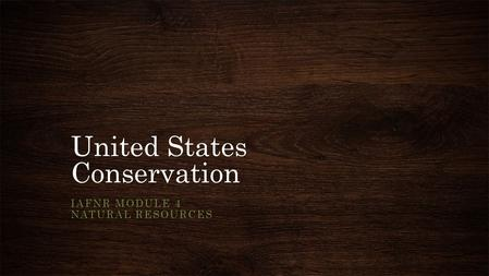 United States Conservation