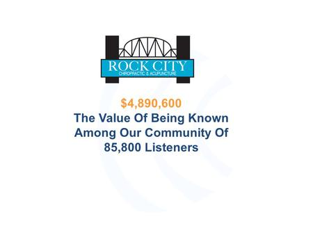 $4,890,600 The Value Of Being Known Among Our Community Of 85,800 Listeners.
