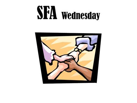 SFA Wednesday. Vocabulary Can you pronounce it Do know the definition Can you use it in a sentence.