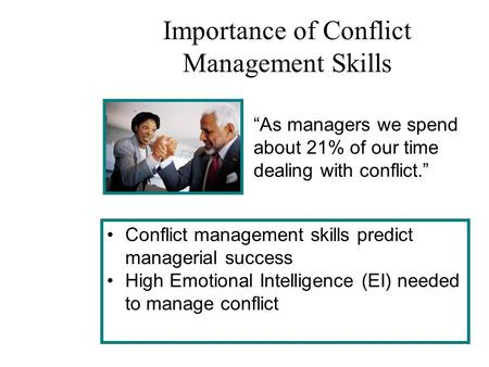 Importance of Conflict Management Skills