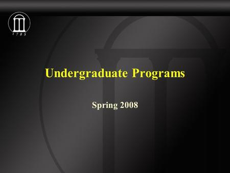 Undergraduate Programs Spring 2008. Enrollment Spring 2007Spring 2008 Turfgrass Mgmt.2831 Water & Soil Resources/Environmental Soil Science 2421 Environmental.