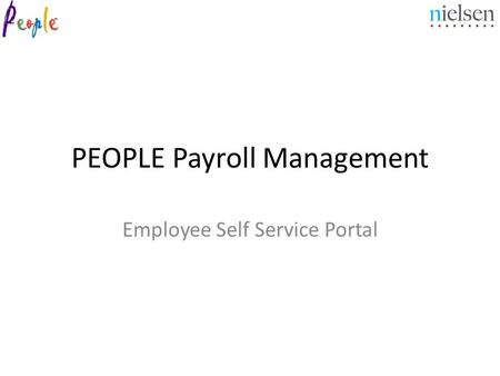 PEOPLE Payroll Management Employee Self Service Portal.