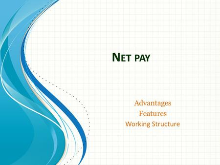 N ET PAY Advantages Features Working Structure. Advantages Redback NetPay allow companies to replace multiple complex computer applications with a single.