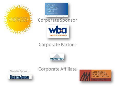 Corporate Sponsor Corporate Partner Corporate Affiliate Chapter Sponsor.