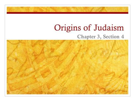 Origins of Judaism Chapter 3, Section 4. Lay of the Land Palestine was cultural crossroads due to location Canaan (area of Palestine), ancient home of.