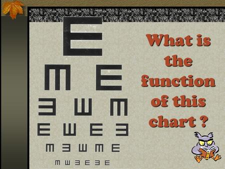 What is the function of this chart ? What eye defect you may suffer if you see the distant object like this?